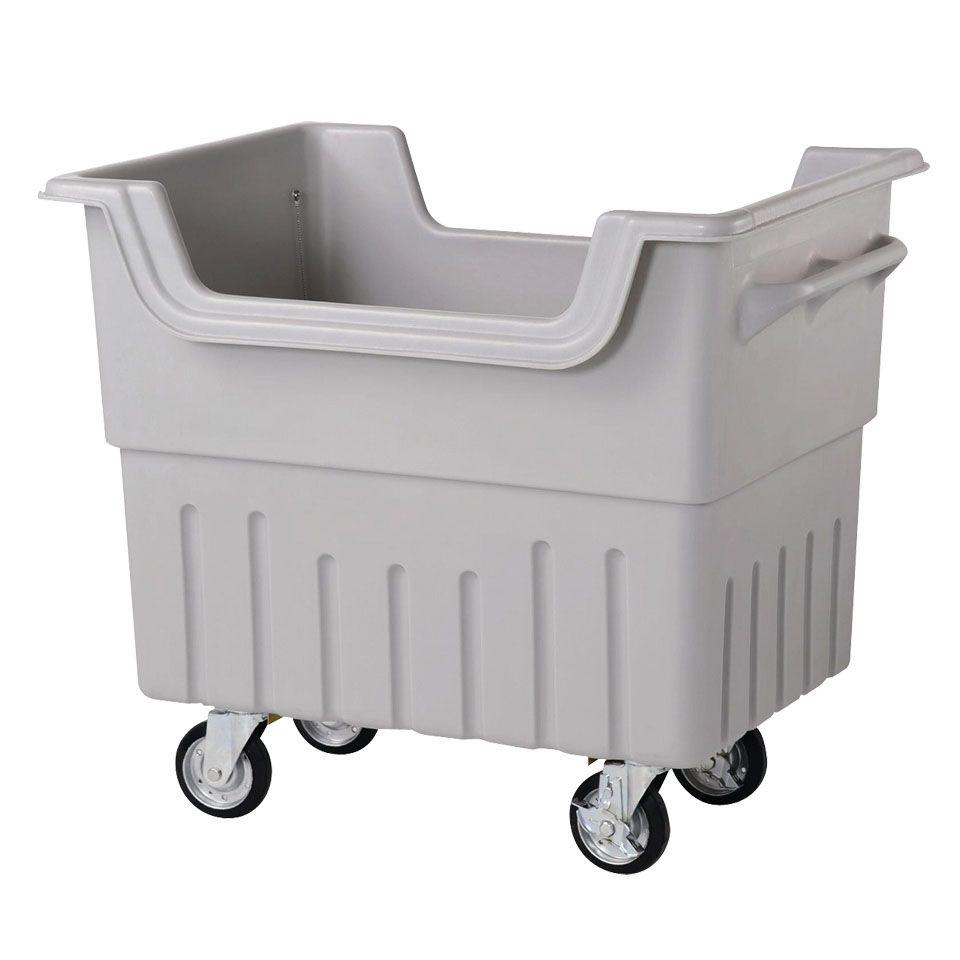 ジャンカート JC340 内容量約340L 約1070 × 770 × 955mm(ミヅシマ工業)分別屑入 大型カート ゴミ箱 屑カゴ 施設用品 ポリエチレン製 キャスター付き 排水栓・口付 ゴミ保管庫 組立済出荷