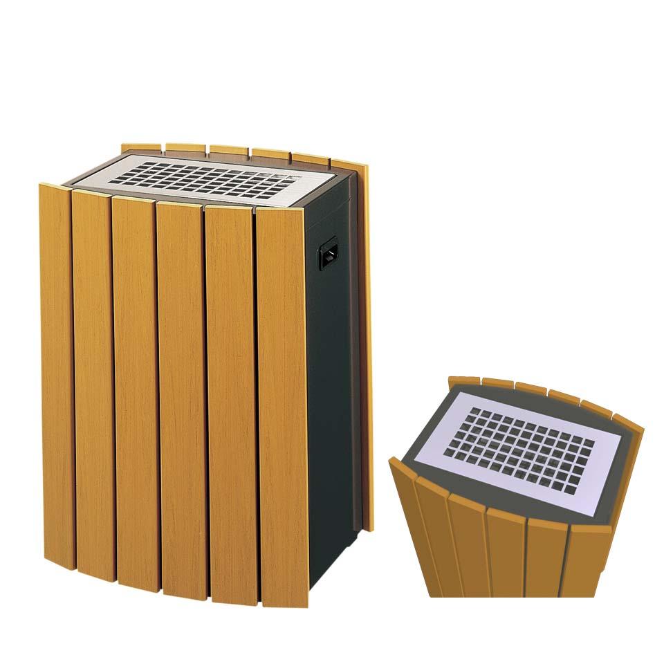 スモーキングスタンド RW RW-SS2 木調樹脂(ミヅシマ工業) 灰皿 施設用品 スチール製 ABC樹脂製 内容量3リットル 本州・四国・九州送料無料