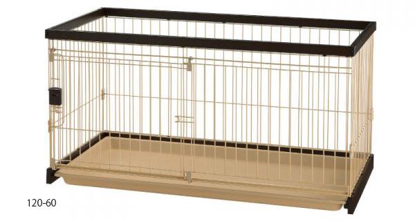 木製お掃除簡単ペットサークル 120-60 ダークブラウン