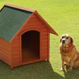 【送料無料】木製犬舎940 超小型~大型犬用(犬小屋、ペットハウス)