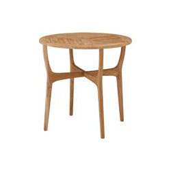 天然木のぬくもりを大切にしたチークガーデンファニチャー。 チークスタイル ロータス テーブル80TRD-248T(33887000)(タカショー)送料無料 ガーデンファニチャー ガーデンテーブル 机 天然木