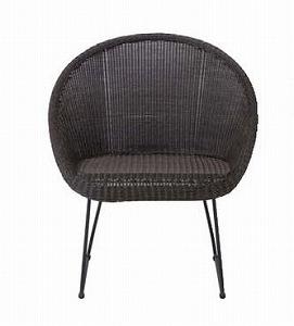 ロムガーデン 庭座 サークルチェアー(ダークブラウン)KFB-C001(34701800)(タカショー)送料無料 ガーデンファニチャー ガーデンチェアー 椅子 イス 人工ラタン