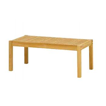 天然木のぬくもりを大切にしたチークガーデンファニチャー。 チークスタイル フウガ コーヒーテーブルTRD-249T(33883200)(タカショー)送料無料 ガーデンファニチャー ガーデンテーブル 机 天然木