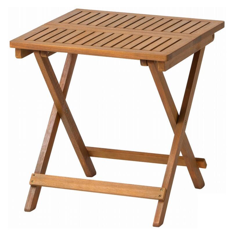 タカショー ホームユース商品 ガーデン家具 ガーデンテーブル キャリー サイドテーブル MWF-31T(57775000)(タカショー)送料無料 ガーデンファニチャー ガーデン家具 ガーデンテーブル 机 木製