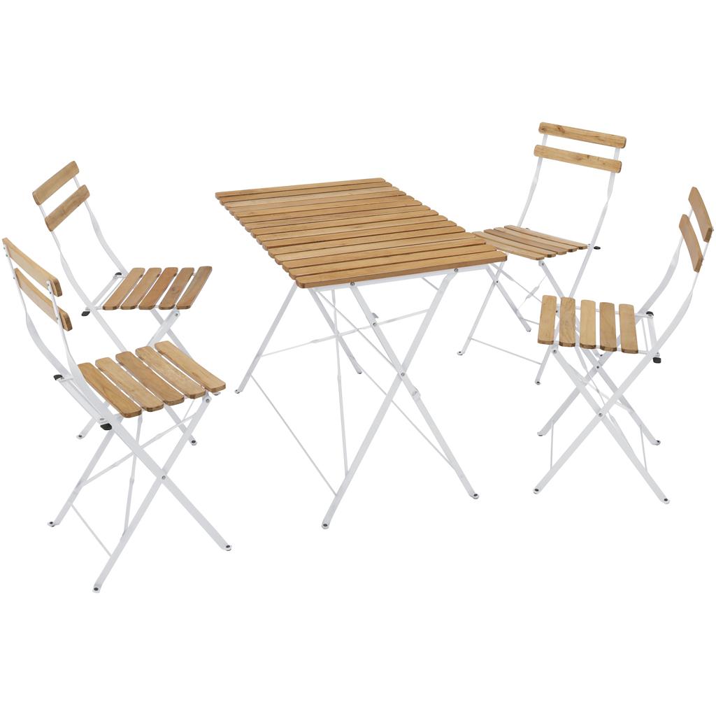 <title>タカショー ご予約品 ホームユース商品 ガーデン家具 テーブルセット フォールドウッド ダイニングテーブル5点セット ホワイト MWF-17WS 56339500 送料無料 ガーデンファニチャーセット ガーデンテーブル ガーデンチェアー 木製 白色</title>