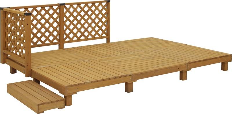 システムデッキ 1.5坪 ナチュラル SDW-N15(59878600)(タカショー)送料無料 エクステリア ウッドデッキ DIY 木製 お庭 屋外