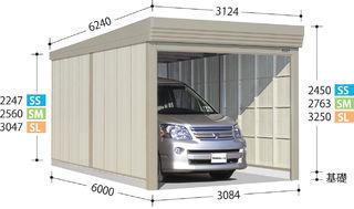 正式的 SM-SZ3160(多雪型・結露減少屋根) 高さ2763:エクシーズ タクボ物置 ガレージ倉庫ベルフォーマ-エクステリア・ガーデンファニチャー
