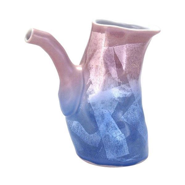 お祝いごとの贈り物に 九谷焼 宗秀作 片口 450cc 紫青色 銀彩 贈り物 メーカー直送 N120-06