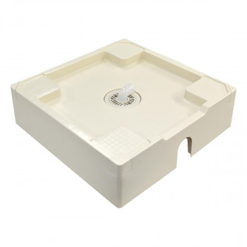 テクノテック 洗濯機用床上配管対応防水パン TPU640-W1-FN 開口有専用排水トラップ付専用フレキ無 アイボリーホワイト洗濯機を乗せたときに空間に馴染むシンプルなデザイン。 テクノテック 洗濯機用床上配管対応防水パン TPU640-W1-FN 開口有専用排水トラップ付専用フレキ無 アイボリーホワイト