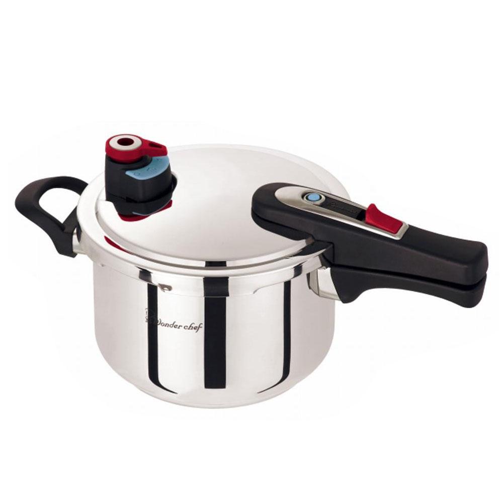 シンプルで使いやすいIH対応の圧力鍋 ワンダーシェフ eliyum 国産品 エリユム 交換無料 片手圧力鍋 4L 630292