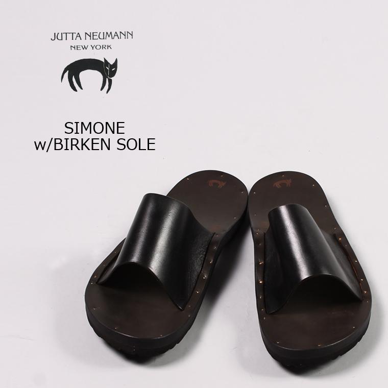 JUTTA NEUMANN (ユッタニューマン) SIMONE w/BIRKEN SOLE / BLACK_LATIGO