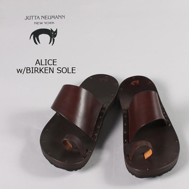 JUTTA NEUMANN (ユッタニューマン) ALICE w/BIRKEN SOLE / DKBROWN_LATIGO