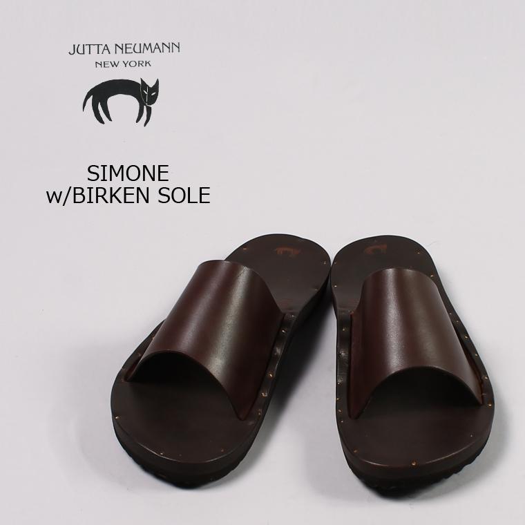 JUTTA NEUMANN (ユッタニューマン) SIMONE w/BIRKEN SOLE / DKBROWN_LATIGO