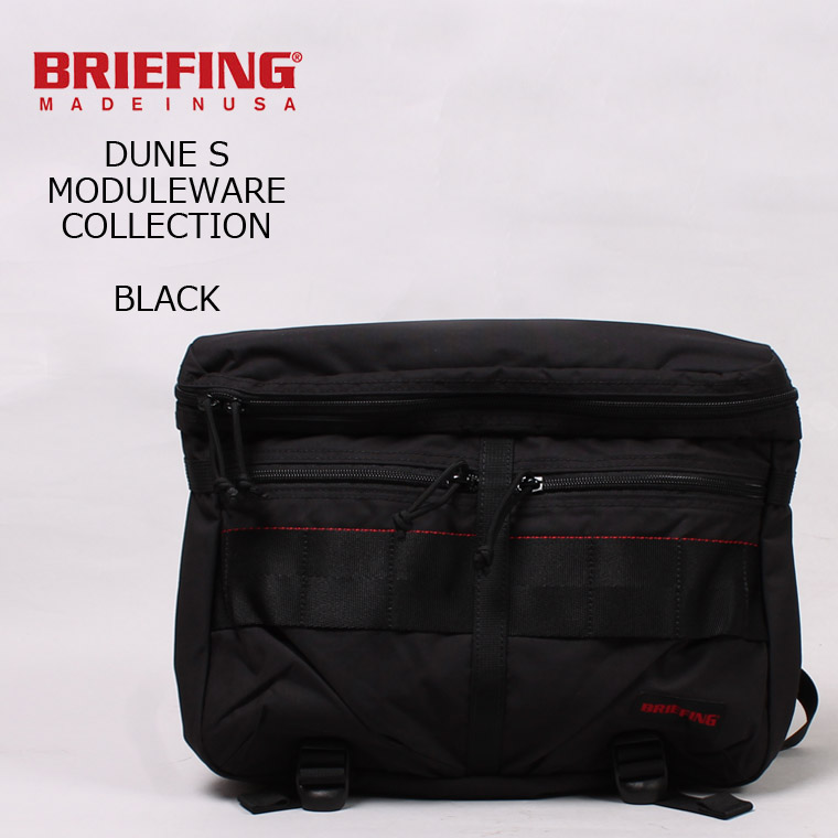 BRIEFING (ブリーフィング) DUNE S MW - BLACK ショルダーバッグ
