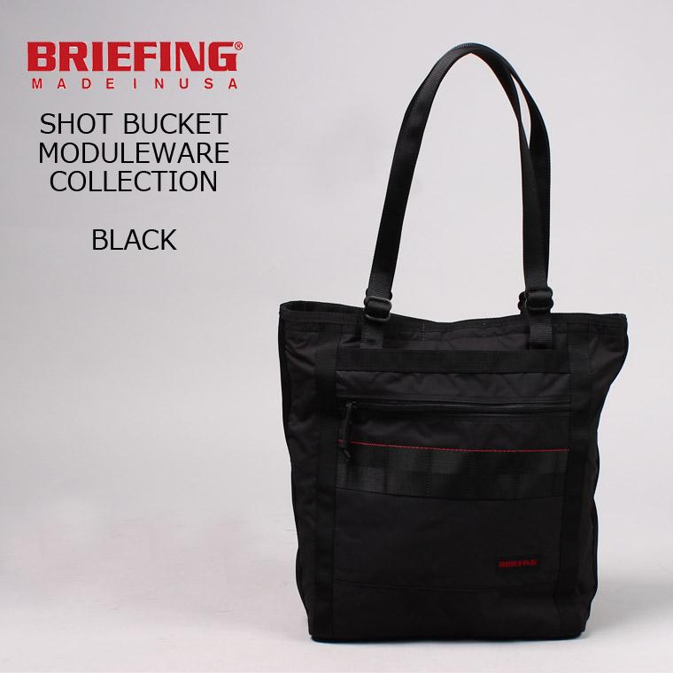 BRIEFING (ブリーフィング) SHOT BUCKET MW - BLACK トートバッグ