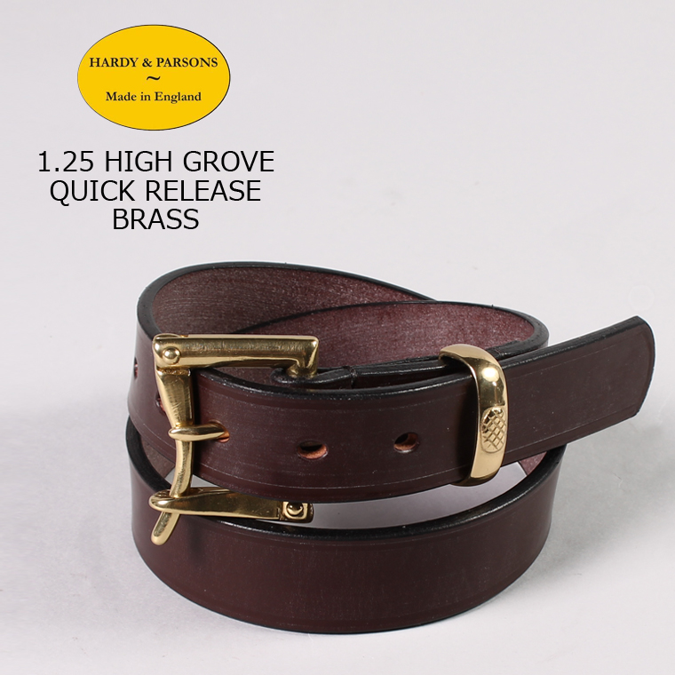 HARDY & PARSONS(ハーディアンドパーソンズ) 1.25 HIGH GROVE QUICK RELEASE-BRASS / CHESTNUT