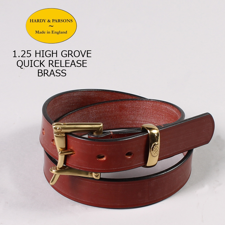 HARDY & PARSONS(ハーディアンドパーソンズ) 1.25 HIGH GROVE QUICK RELEASE-BRASS / NEW_MARKET_TAN