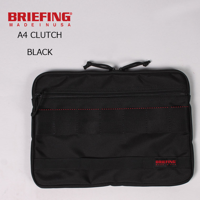 BRIEFING (ブリーフィング) A4 CLUTCH - BLACK クラッチバッグ