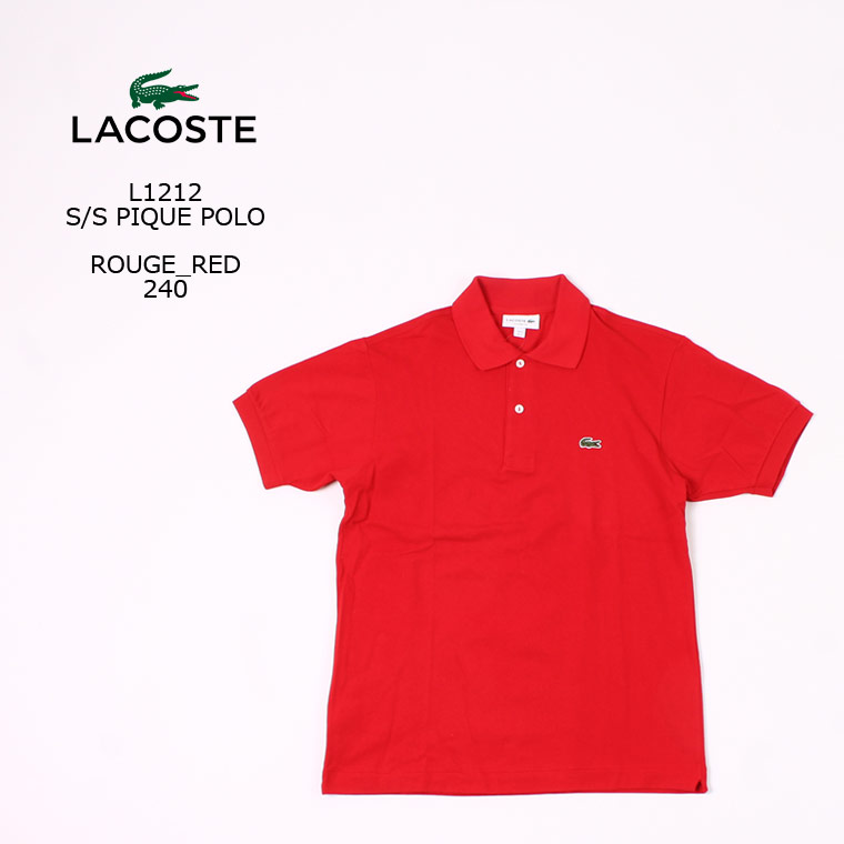 [並行輸入品] FRANCE LACOSTE (フランスラコステ) S/S PIQUE POLO - ROUGE RED 240 フララコ ポロシャツ メンズ