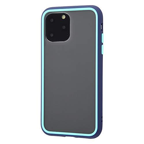 送料無料 アイフォン11pro 人気 おすすめ カバー 極上の手触り 青 おしゃれ iPhone 11 Pro ケース 耐衝撃 Qi充電 ストラップホール エアクッション 薄型 ブルー 指紋防止 スーパーセール期間限定 衝撃吸収 ライトブルー Silky touch