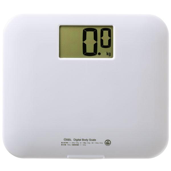 人気激安 体重計 HB-K105-W デジタル体重計 販売実績No.1 ホワイト オーム電機 OHM