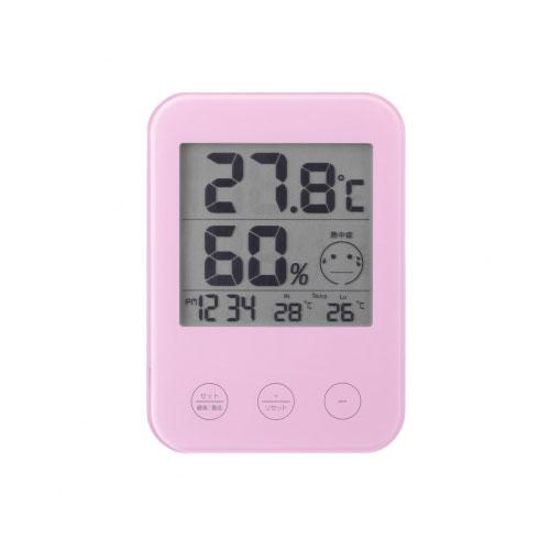温湿度計 デジタル温湿度計 DO02PK 熱中症 ヤザワコーポレーション ショップ インフルエンザ警報付きデジタル温湿度計PK YAZAWA 送料無料