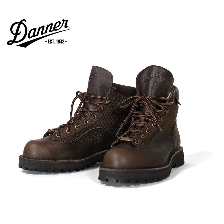 『DANNER / ダナー』 dnnr330 DANNER LIGHT 2 / ダナーライト2 -BROWN-  Dワイズ/ぺブルグレインレザー/ゴアテックス/クレッターリフト/アウトドア/ロゴ/ブーツ/厚底/ステッチ/防水/定番/海外限定 [dnnr330]