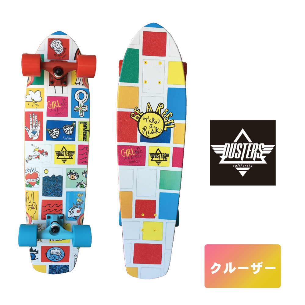 DUSTERS スケボー 8.25インチ 【 Dusters Dusters Girl Power GN4LW Cruiser 】 クルーザー コンプリート スケートボード SKATEBOARD ソフトウィール