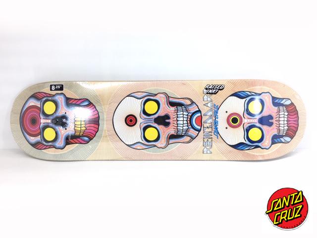 SANTACRUZ スケートボード デッキ 8.25インチ【 SANTACRUZ REMILLARD POWER OF THREE 8.25 x 31.8 ARTWORK BY BONETHROWER 】 スケボー サンタクルーズ, ハクバストア 3afa594f