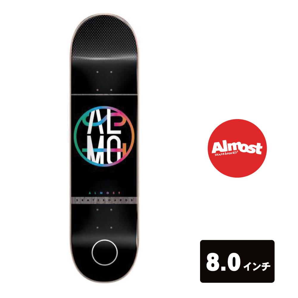 ALMOST スケートボード デッキ 8インチ 【 Color Crash Black 】 スケボー オールモスト SKATEBOARD