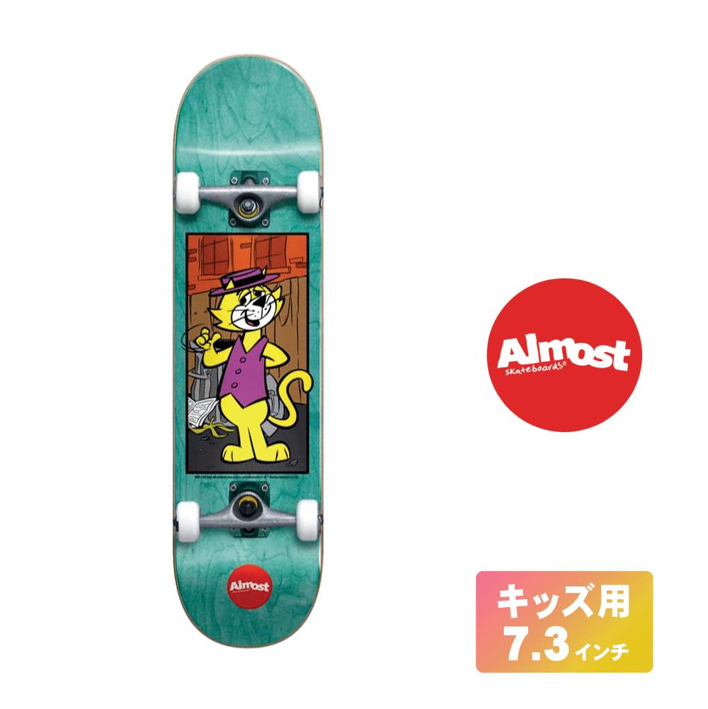ALMOST キッズ用 スケートボード デッキ コンプリート セット 7.375インチ【 TOP CAT TEAL 】 スケボー オールモスト DECK 子供用