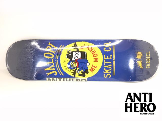 ANTIHERO スケートボード デッキ 8.28インチ【 ANTIHERO CARDIEL JALOPI SKATE CO 8.28 x 31.65 】 スケボー アンチヒーロー アンタイヒーロー SKATEBOARD, namename 4d6ad650