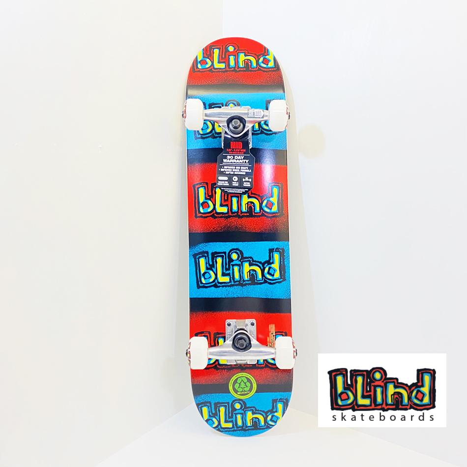 BLIND スケートボード キッズデッキ コンプリート セット 7.25インチ【 RED/BL/BLU 7.25 】 スケボー ブラインド DECK