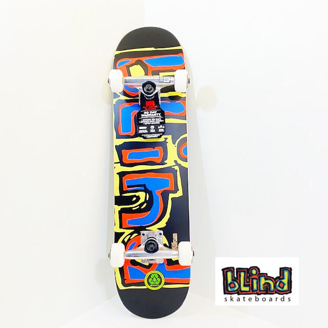 BLIND スケートボード キッズデッキ コンプリート セット 7.3インチ【 J-YELLOW/RED/BLUE YOUTH 7.3 】 スケボー ブラインド DECK