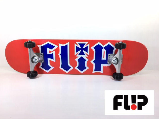FLIP スケートボード デッキ コンプリートセット 7.75インチ 【 HKD PATRIOT RED 7.75 】 スケボー キッズ
