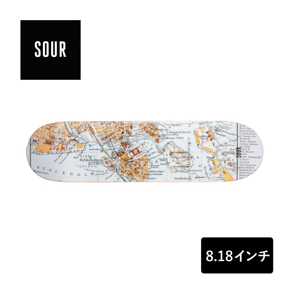 SOUR SOLUTION スケートボード デッキ 8.18インチ 【 Spangs - Stockholm 】 スケボー サワーソリューション SKATEBOARD DECK