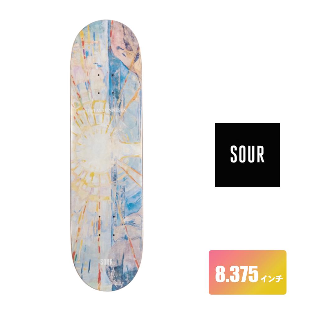 SOUR SOLUTION スケートボード デッキ 8.375インチ 【 Gustav - Art 】 スケボー サワーソリューション SKATEBOARD DECK