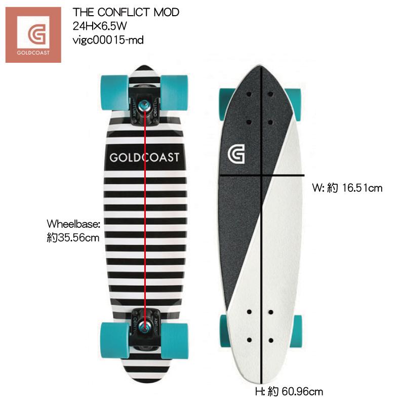 GOLDCOAST THE CONFLICT Mod Cruiser vigc00015-md 24H×6.5W 街乗り クルーザー コンプリート ゴールドコースト ソフトウィール