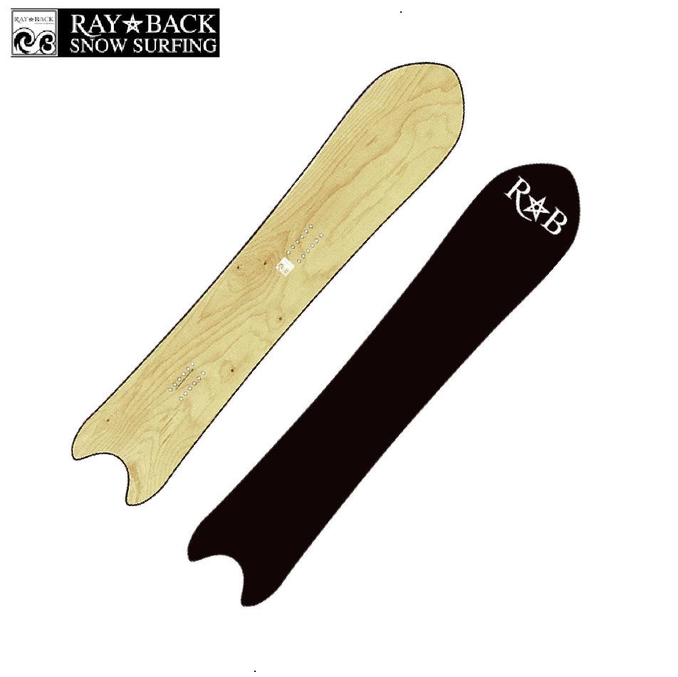 選べる特典付 20 RAYBACK SWORDFISH 4'10[147.5cm] Natural.C パウダー フリーライド スノーボード ニットケース付 正規品