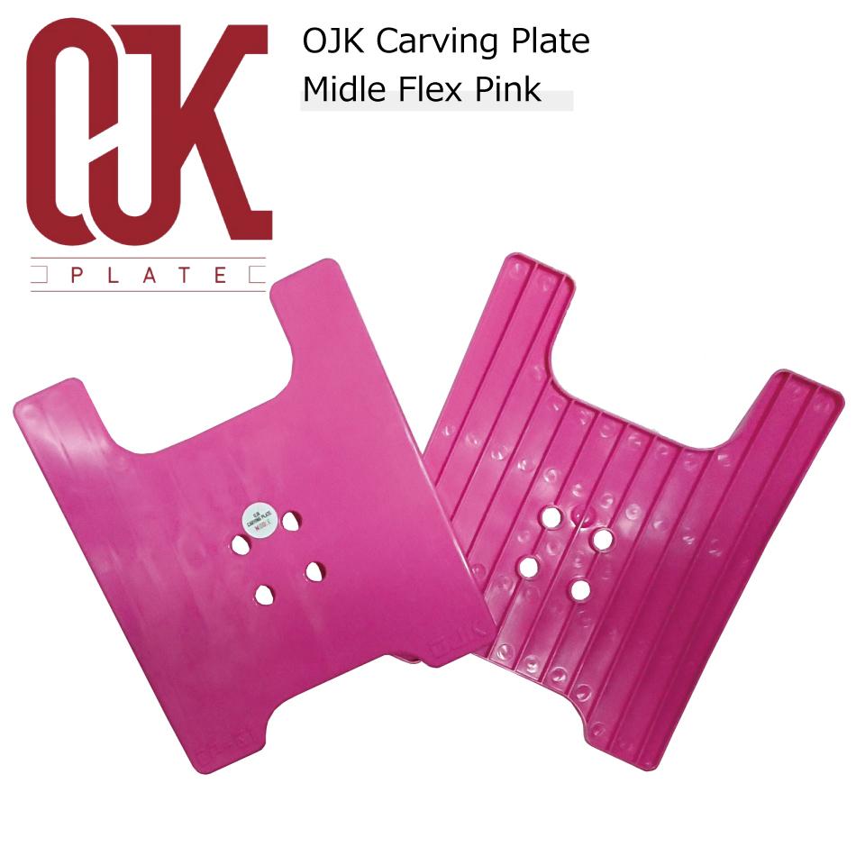 オール樹脂製 軽い 手ごろな価格 カービング パウダー OJK Carving Plate 01 評価 Middel ハンマーヘッド スノボ ピンク オージェイケイ Pink カービングプレート スノーボード スノボー 直営限定アウトレット パウダーボード ミドル