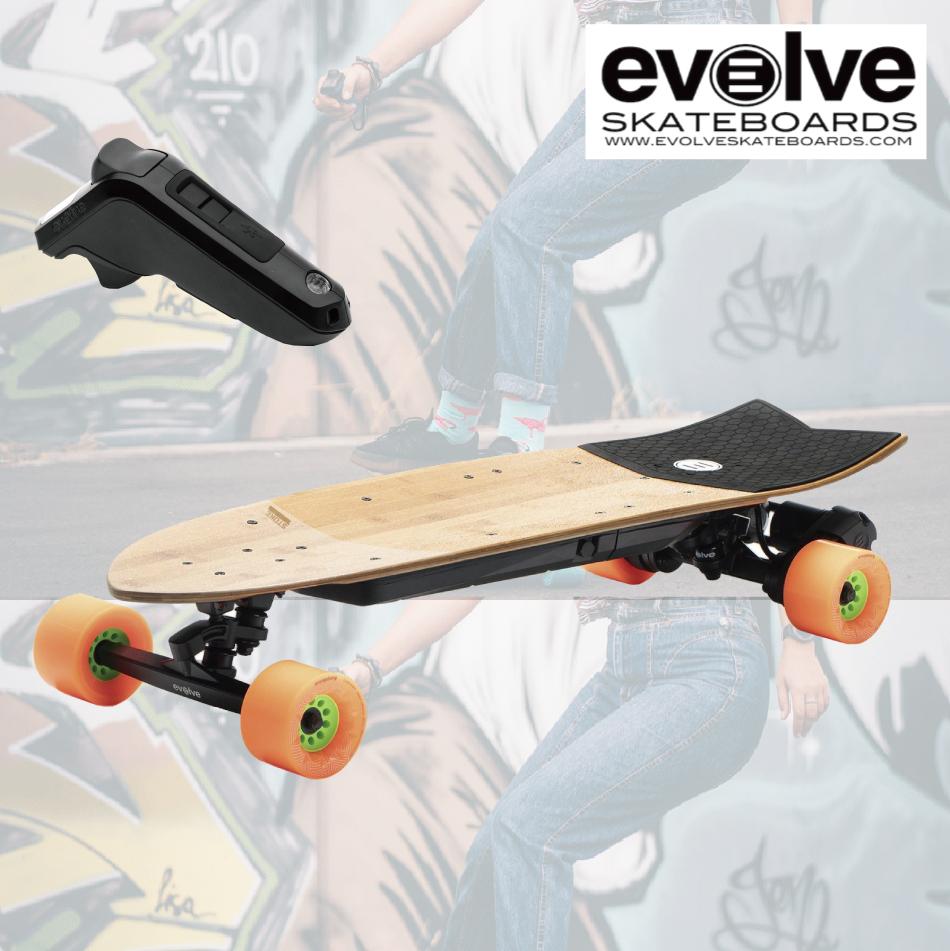 電動スケートボード Evolve SkateBoards Stoke 33.5インチ リモコン ショートボード 街乗り エボルブ スケートボード 電スケ サーフライド スケボー