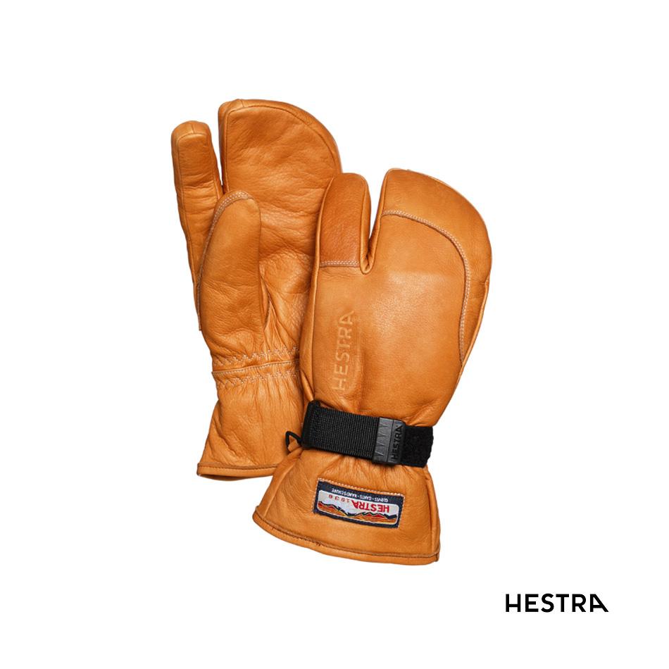 20-21 HESTRA 3-FINGER FULL LEATHER (cork) ヘストラ スリーフィンガーフルレザー 6,7,8 (コルク) 30872 グローブ 正規品 スノボー スキー