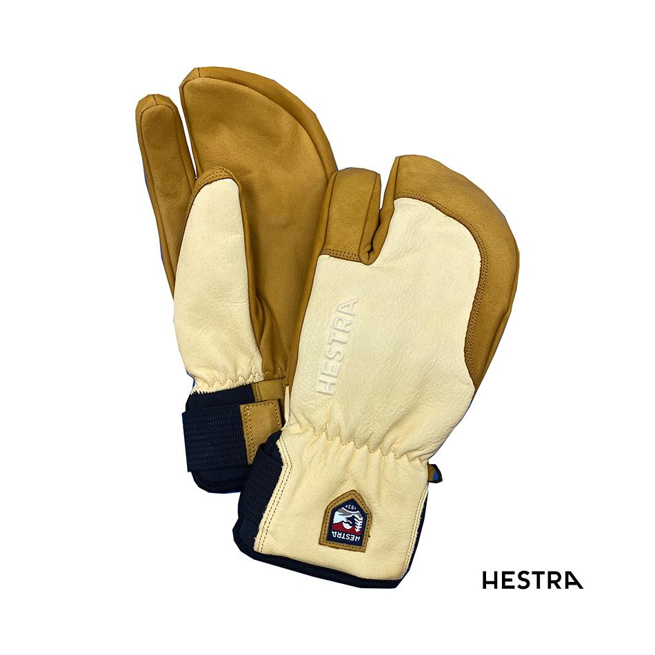20-21 HESTRA 3-FINGER FULL LEATHER SHORT (natural brown/tan) ヘストラ スリーフィンガーフルレザー ショート 6,7,8 (ナチュラルブラウン/タン) 33872 グローブ 正規品 スノボー スキー