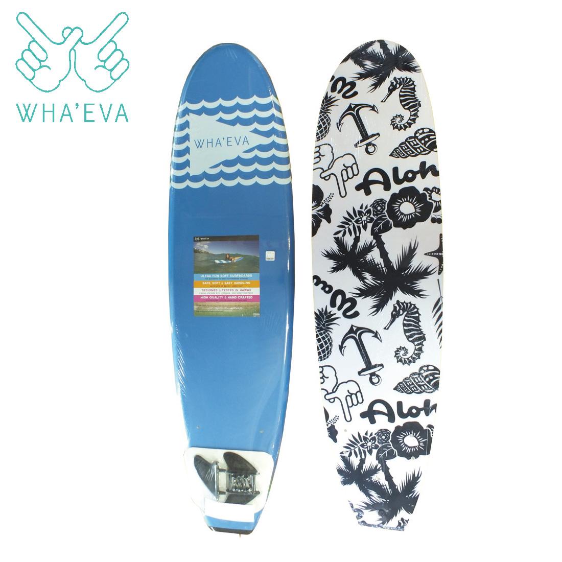 SURF WHA'EVA FLAG 7'0 Blue ソフトサーフボード EVA素材 軽量 ソフト素材 WHA EVA ワー イーブイエー