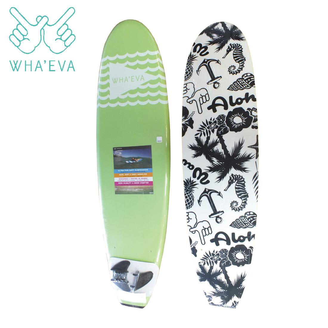 SURF WHA'EVA FLAG 7'0 Lime(Green) ソフトサーフボード EVA素材 軽量 ソフト素材 WHA EVA ワー イーブイエー