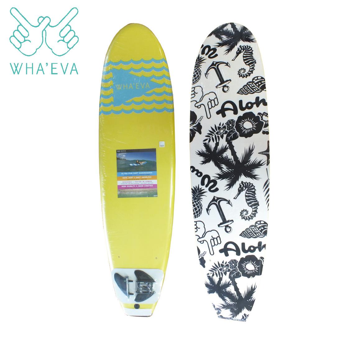 SURF WHA'EVA FLAG 7'0 Yellow ソフトサーフボード EVA素材 軽量 ソフト素材 WHA EVA ワー イーブイエー