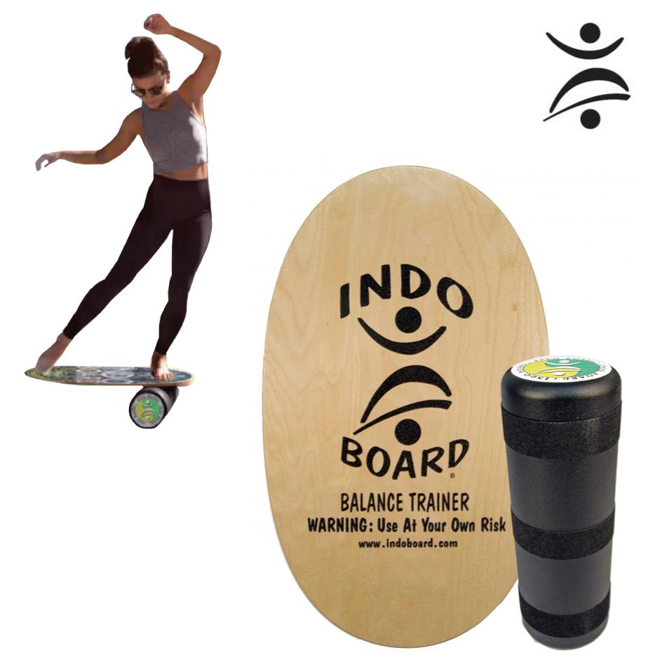 バランスボード HowToDVD付 INDO Original Indo Board Set ナチュラルカラー インドボード オリジナル ボードセット オウチ 体幹 バランス ヨガ 体幹トレーニング スノーボード スケートボード サーフィン