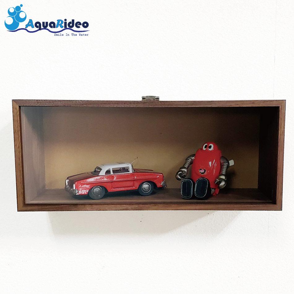 Aqua Rideo イージーコレクション ボックススタイル 3kgまで 簡単ホチキス留 箱型棚 壁美人 ウォールシェルフ アクア リデオ 雑貨
