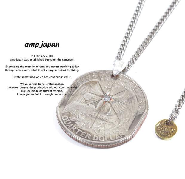 アンプジャパン amp japan 13AA-103 Quarter Dollar Necklace Diamond AMP JAPAN コイン ネックレス コインネックレス メンズ レディース