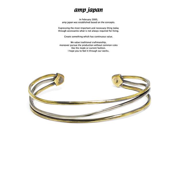 amp japan アンプジャパン 17AO-305 Multi Bangle -Triple-AMP JAPAN 真鍮 シルバー バングル シンプル メンズ レディース